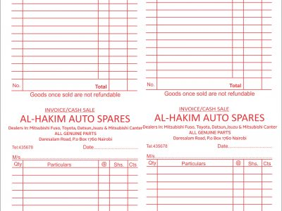 RECEIPT| INVOICE| DELIVERY| CASH BOOK PRINTING