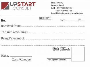 Receipt books Printing Services
