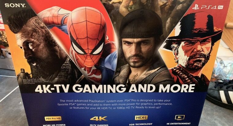 NEW Sony PlayStation 4 PS4 Pro 1TB 4K HDR + HDMI