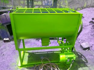 Binder mixer for briquettes.