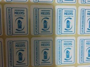 Kebs sticker printing services